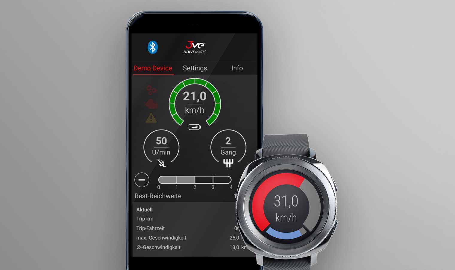 DRIVEMATIC App – for smartwatches and smartphones